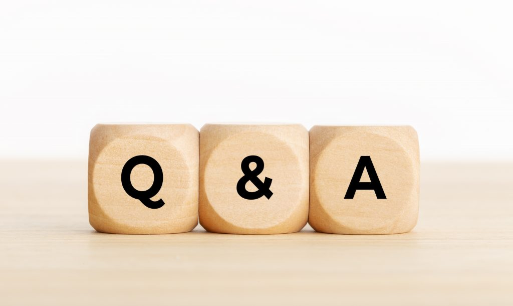 """building blocks with """"q and a"""" written on them"""